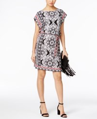 Inc International Concepts Printed Dolman Sleeve Sheath Dress Only At Macy's Twin Circle Medallion