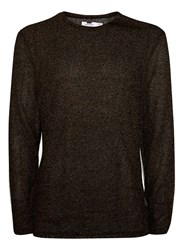 Topman Black Glitter Effect Long Sleeve T Shirt
