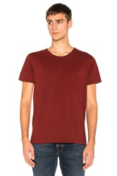 Nudie Jeans O Neck Tee Red