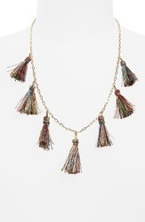 Rebecca Minkoff Women's Kaleidoscope Tassel Necklace