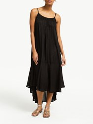 And Or Marilyn Metallic Stripe Dress Black