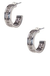 Lois Hill Sterling Silver Box Weave Hoop Earrings No Color