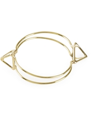Anndra Neen Double Pyramid Bangle Metallic