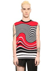 Xander Zhou Intarsia Wave Viscose Blend Sweater