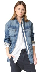 Nili Lotan Lori Military Jacket Blue
