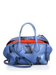 Prada Rabbit Print Python Inside Bag Blue