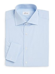 Brioni Regular Fit French Cuff Dress Shirt Pastel Blue