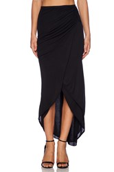 Michael Stars Asymmetrical Drape Skirt Black