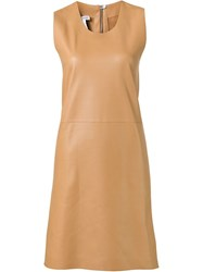 Loewe Leather Dress Brown