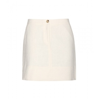 Tory Burch Cotton Miniskirt New Ivory