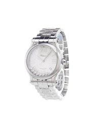 Chopard 'Happy Sport' Analog Watch Stainless Steel