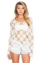 Minkpink Build Me Up Crochet Top Ivory