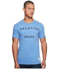 The Original Retro Brand Vacataion Mode Short Sleeve Tri Blend Tee Streaky Royal Men's T Shirt Blue
