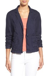 Women's Caslon Linen One Button Jacket Navy Peacoat