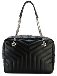 Saint Laurent 'Y' Quilted Tote Bag Women Leather One Size Black