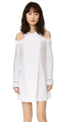 Zeus Dione Anemone Long Sleeve Dress White