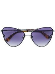 Mcq By Alexander Mcqueen Eyewear Oversized Sunglasses Metallic