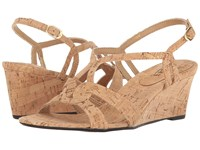 Vaneli Matty Natural Cork Women's Wedge Shoes Neutral