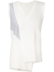 Thakoon Addition Asymmetric Knit Tank Top White