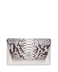 Anouk Python And Leather Chain Envelope Clutch Bag Python Multi Akris