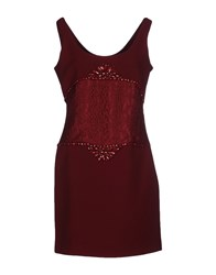 List Dresses Short Dresses Women Maroon