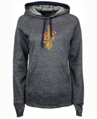 Adidas Women's Cleveland Cavaliers Logo Pullover Hooded Sweatshirt Heather Navy