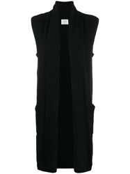 Snobby Sheep Open Front Cardigan Black