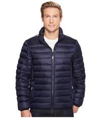 Tumi Patrol Packable Travel Puffer Jacket Navy Coat