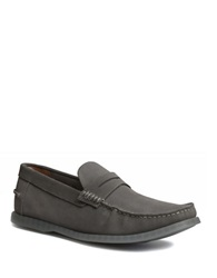 Bass Keane Suede Penny Loafers Grey