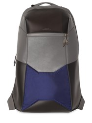 Mani Del Sud Geometric Leather And Nylon Backpack