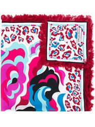 Emilio Pucci Abstract Print Fringed Scarf Multicolour