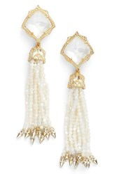 Kendra Scott Women's Misha Tassel Earrings Ivory Mop Gold