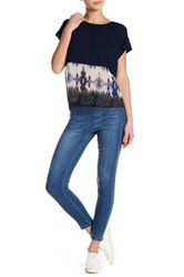 Democracy Pull On Denim Jegging Blue