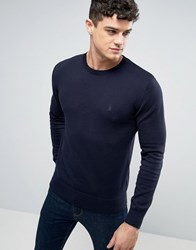 French Connection Crew Neck Knitted Jumper Navy