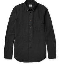 Paul Smith Ps By Button Down Collar Cotton Blend Shirt Black