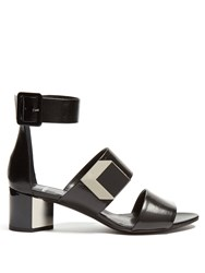 Pierre Hardy De D'or Block Heel Sandals Black