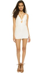 For Love And Lemons Garden Isle Romper White