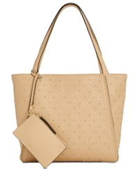 Inc International Concepts I.N.C. Quiin Quilted Studded Extra Large Tote Created For Macy's Vachetta