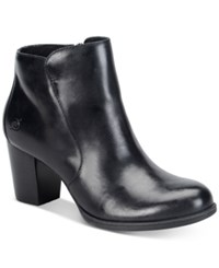 Born Alter Zippered Booties Women's Shoes Black