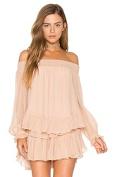 Loveshackfancy Smocked Peplum Top Pink