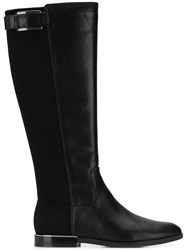 72763b56c3e4 Calvin Klein Knee High Buckle Boots Black