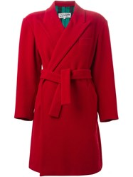 Jean Paul Gaultier Vintage Belted Double Breasted Coat Red