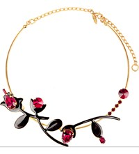 Marni Strass Metal Necklace Black