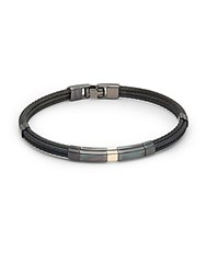 Alor Stainless Steel Three Strand Bracelet No Color