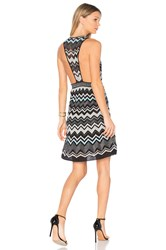 M Missoni Sleeveless V Neck Mini Dress Black