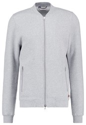 Knowledge Cotton Apparel Tracksuit Top Grey Melange Mottled Grey