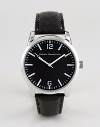 French Connection Watch With Black Dial Black
