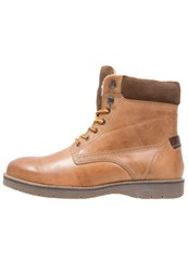 Pier One Laceup Boots Tan Wood Coffee Light Brown