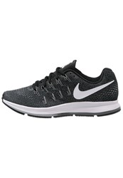 Nike Performance Air Zoom Pegasus 33 Cushioned Running Shoes Black White Anthracite Cool Grey
