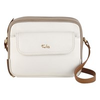 Tula Nappa Originals Leather Small Across Body Bag Ivory